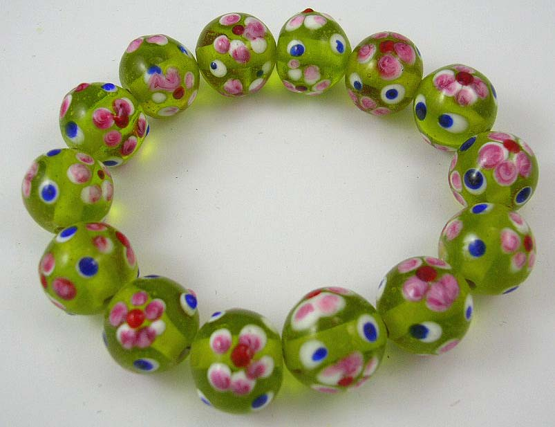 bracelet fashion costume jewelry 925 sterling silver outlet brings green flower pattered bracelet