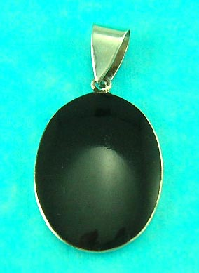 online cheap jewelry shop delivers high style pure onyx pendant with round shape