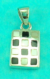 jewelry accessory online wholesale manufactured rectangular pendant implies with assorted gemstone