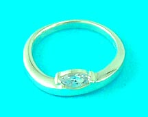 best wholesale house displays high class design man-made diamond ring, great for gifts