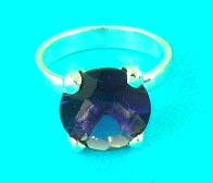 wholesale jewelry shop supplies fashion design gemstone inlaid ring in purple