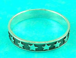 queen's jewelry online mall manufactured star symbol ring which symbolize energy, great for gift